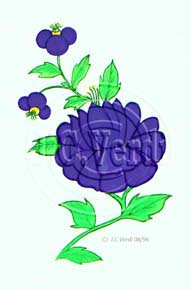 Flower for Platter Decal